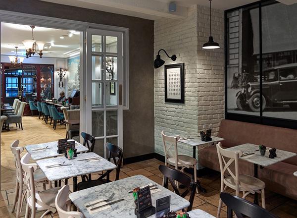pared ladrillo blanco en restaurante paneles OldStonesEspacios castellon