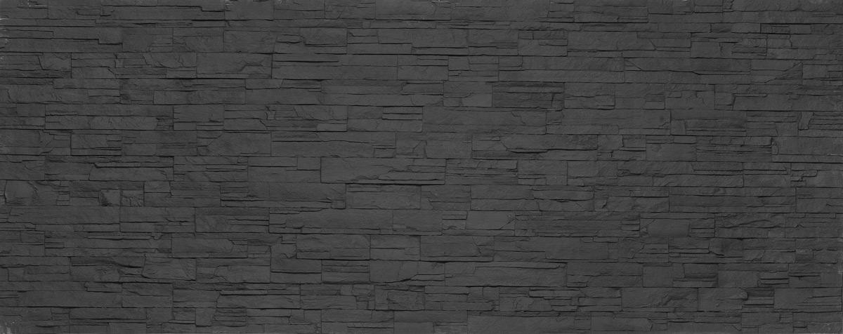 panel de piedra oldstones lascas negro